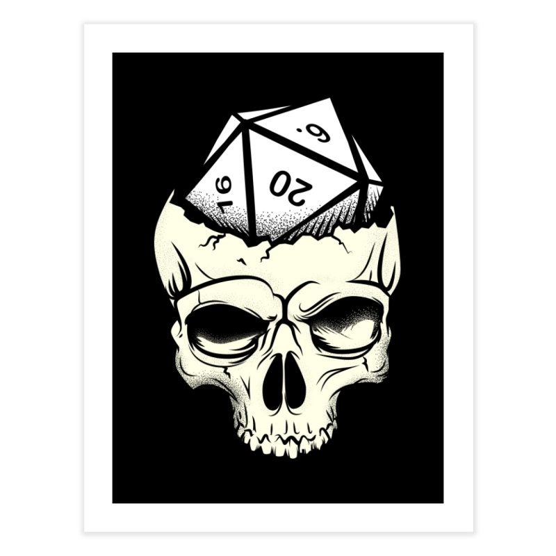White Die of Death Home Fine Art Print by March1Studios on Threadless