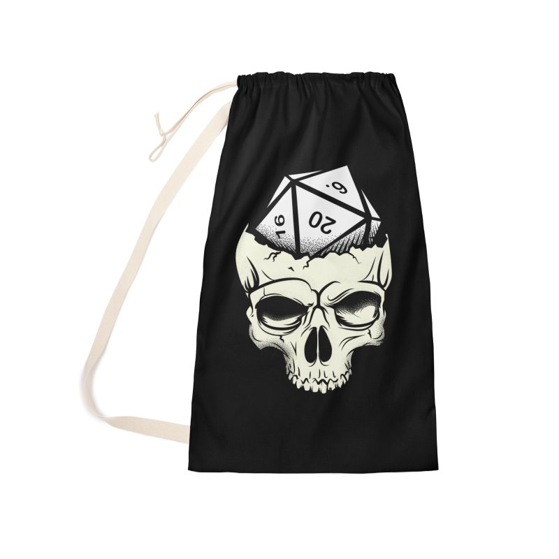 White Die of Death Accessories Laundry Bag Bag by March1Studios on Threadless