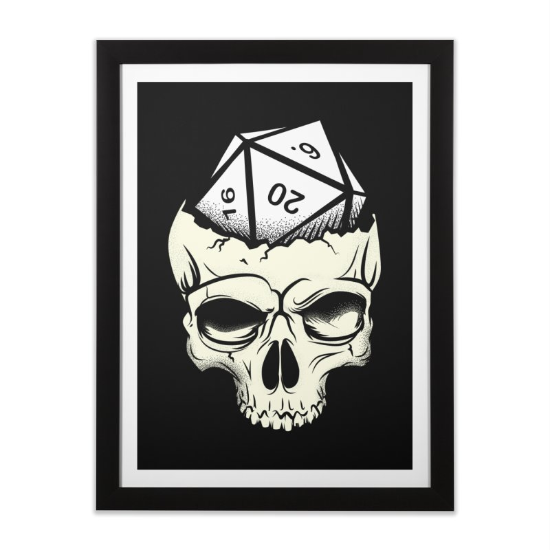 White Die of Death Home Framed Fine Art Print by March1Studios on Threadless