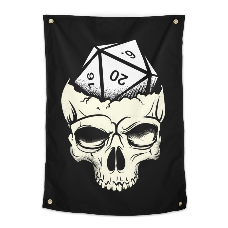 White Die of Death Home Tapestry by March1Studios on Threadless