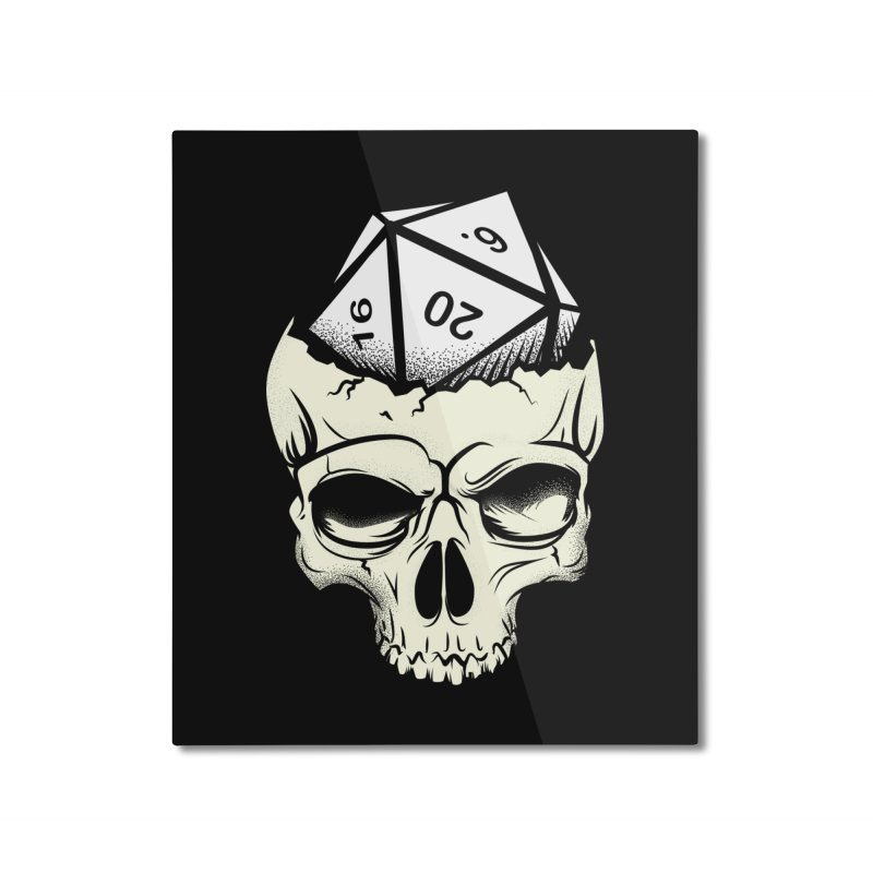 White Die of Death Home Mounted Aluminum Print by March1Studios on Threadless
