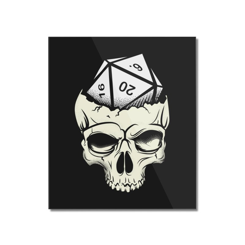 White Die of Death Home Mounted Acrylic Print by March1Studios on Threadless