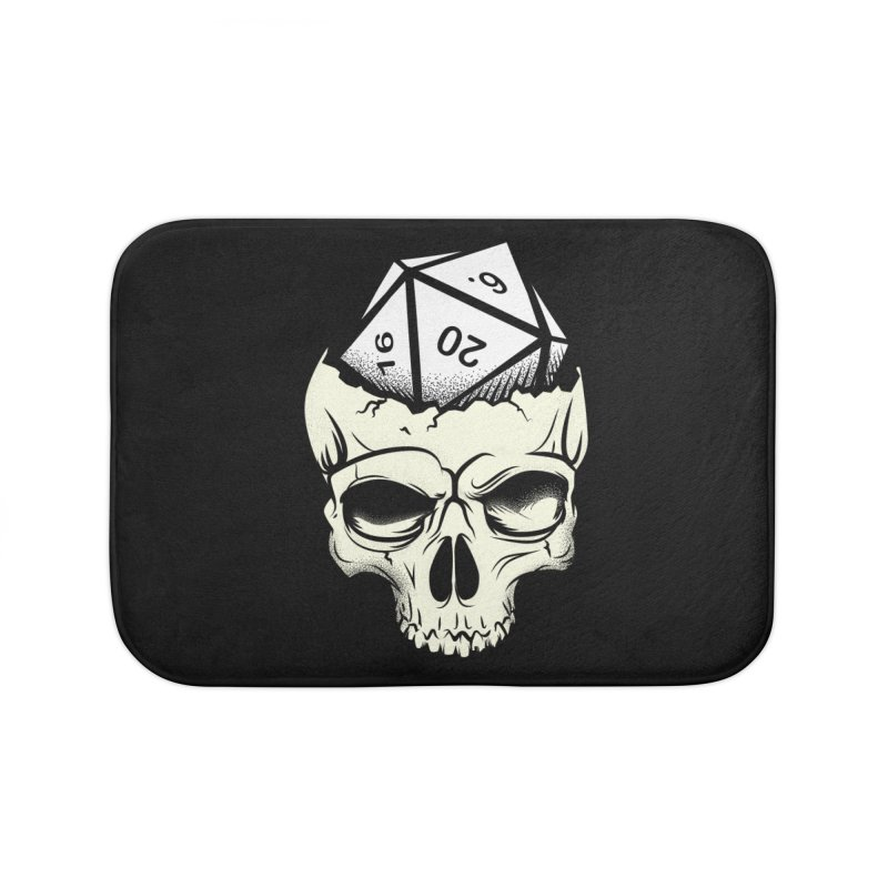 White Die of Death Home Bath Mat by March1Studios on Threadless