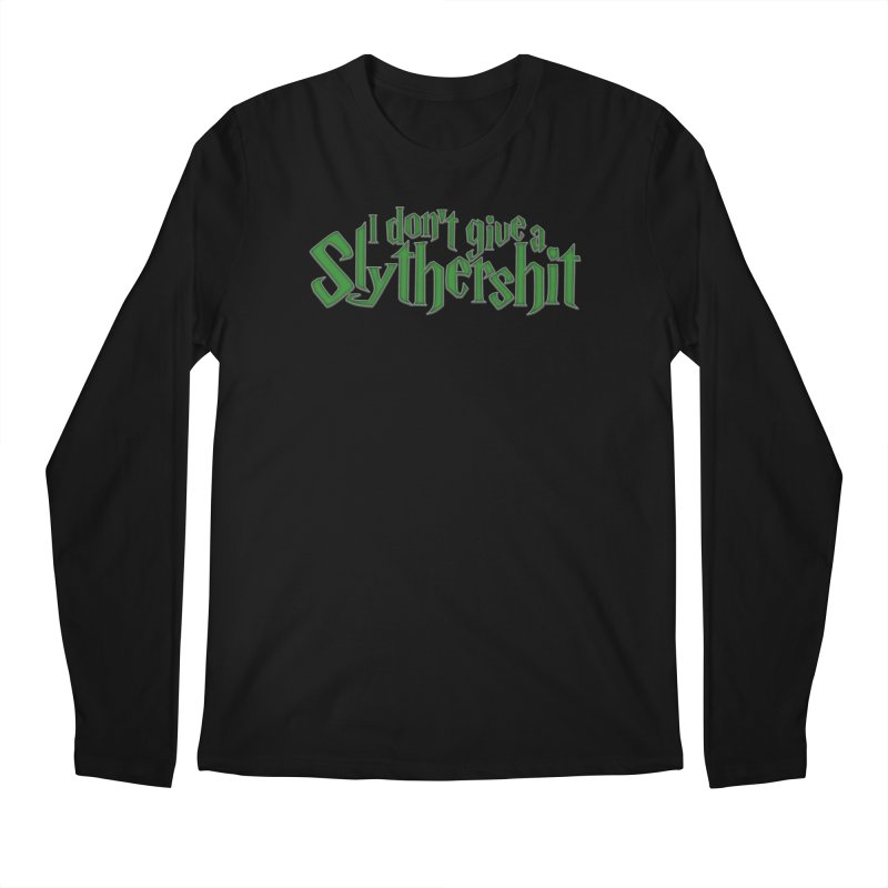 I Don't Give A Slythershit Men's Regular Longsleeve T-Shirt by March1Studios on Threadless