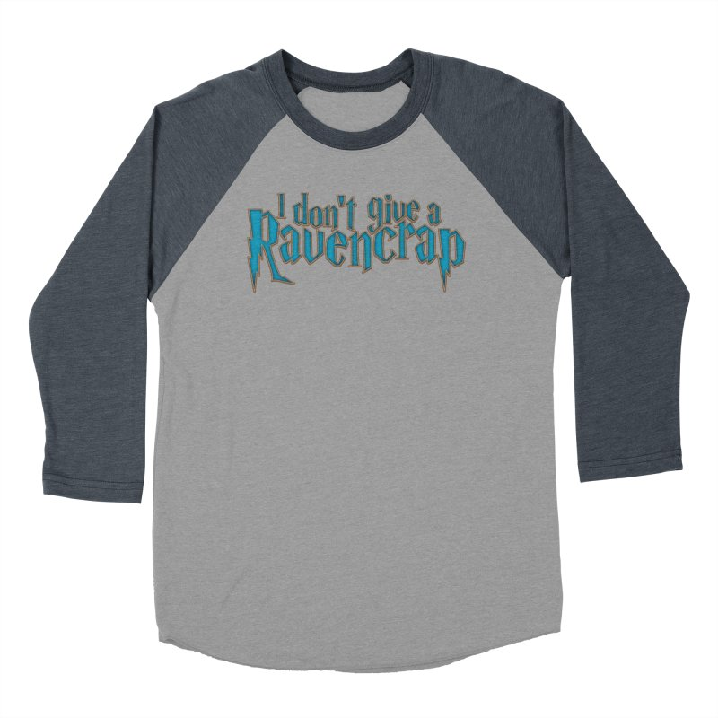 I Don't Give A Ravencrap Women's Baseball Triblend Longsleeve T-Shirt by March1Studios on Threadless