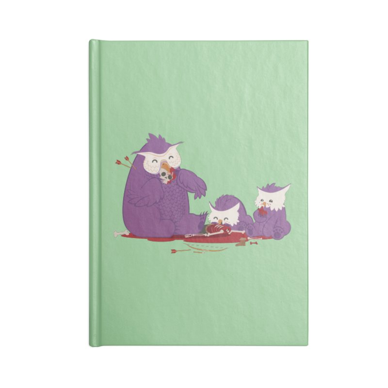 Owlbear Picnic Accessories Lined Journal Notebook by March1Studios on Threadless