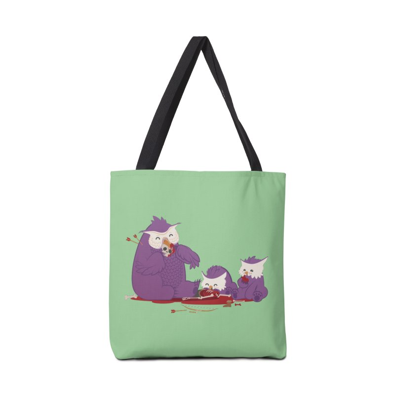 Owlbear Picnic Accessories Tote Bag Bag by March1Studios on Threadless