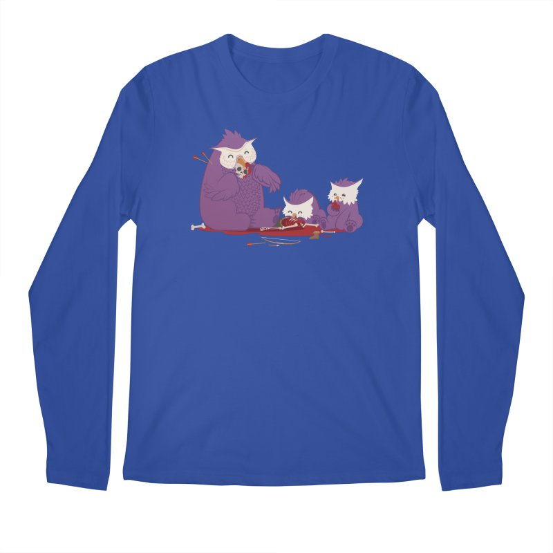 Owlbear Picnic Men's Regular Longsleeve T-Shirt by March1Studios on Threadless