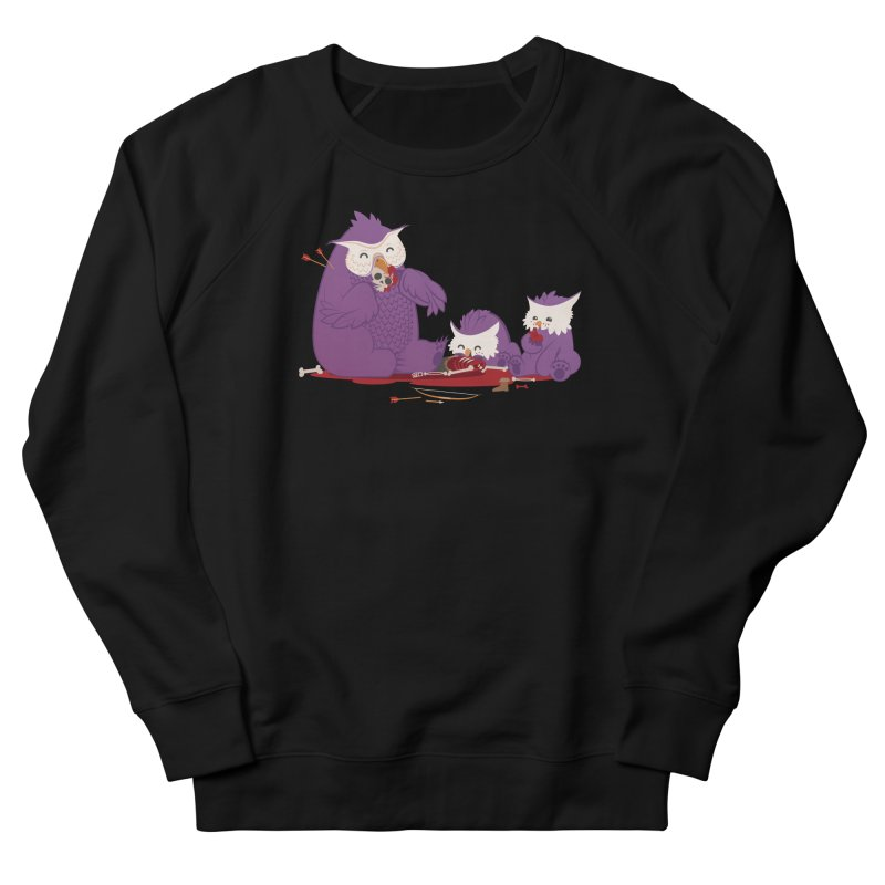 Owlbear Picnic Women's French Terry Sweatshirt by March1Studios on Threadless