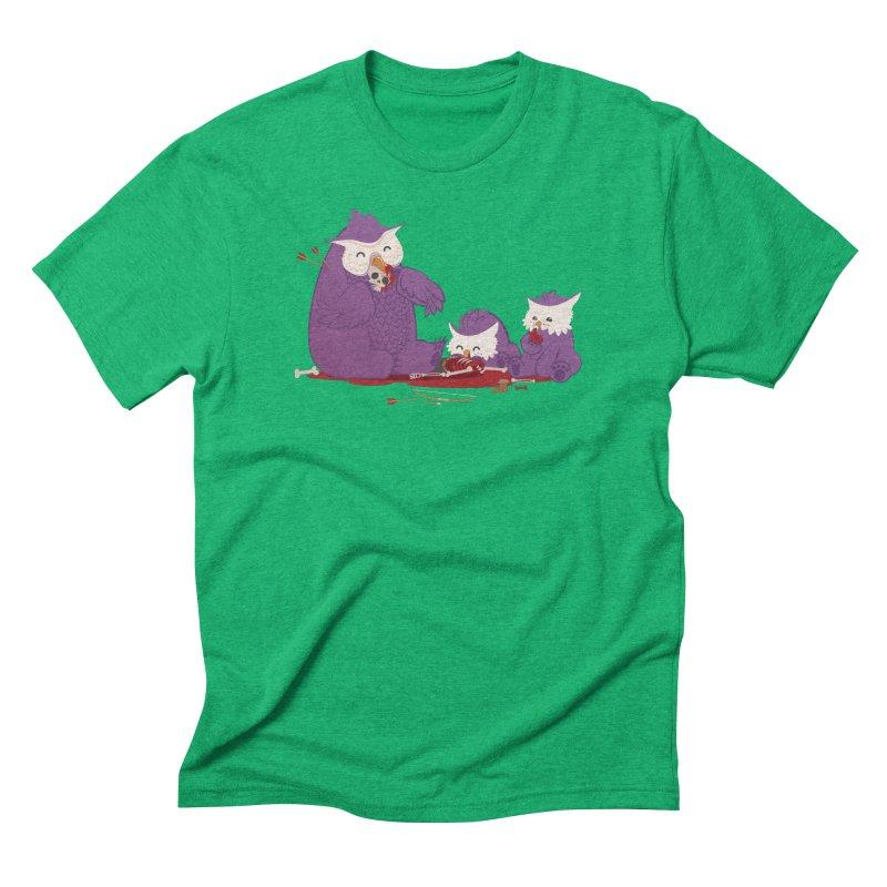 Owlbear Picnic Men's Triblend T-Shirt by March1Studios on Threadless
