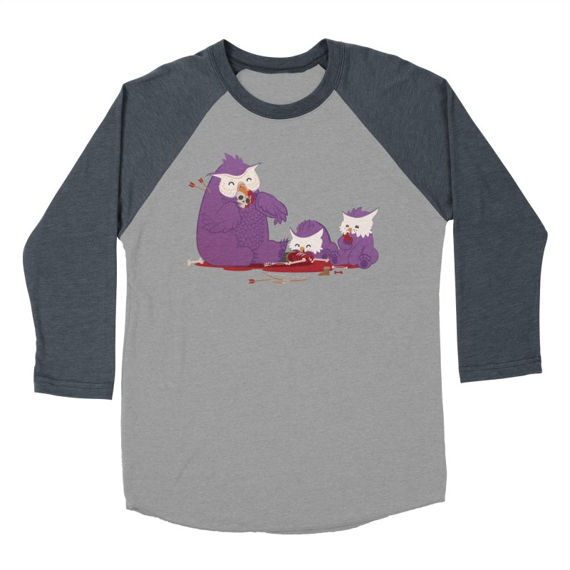 Owlbear Picnic Women's Baseball Triblend Longsleeve T-Shirt by March1Studios on Threadless