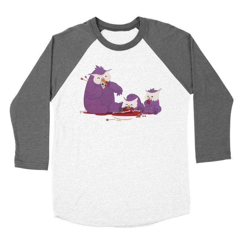 Owlbear Picnic Men's Baseball Triblend Longsleeve T-Shirt by March1Studios on Threadless