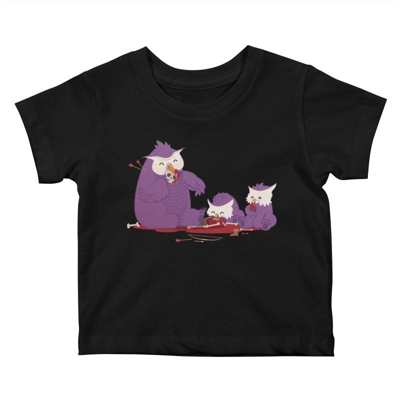 Owlbear Picnic Kids Baby T-Shirt by March1Studios on Threadless