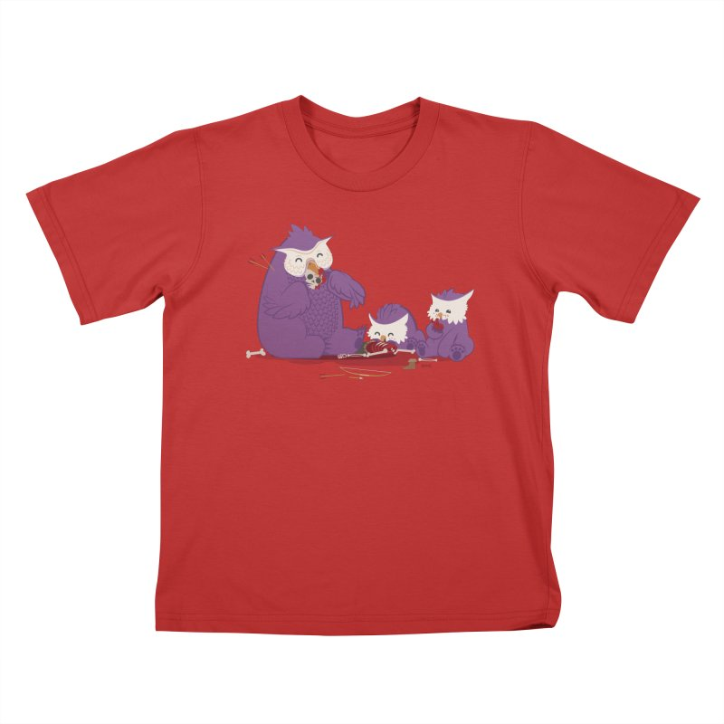 Owlbear Picnic Kids T-Shirt by March1Studios on Threadless