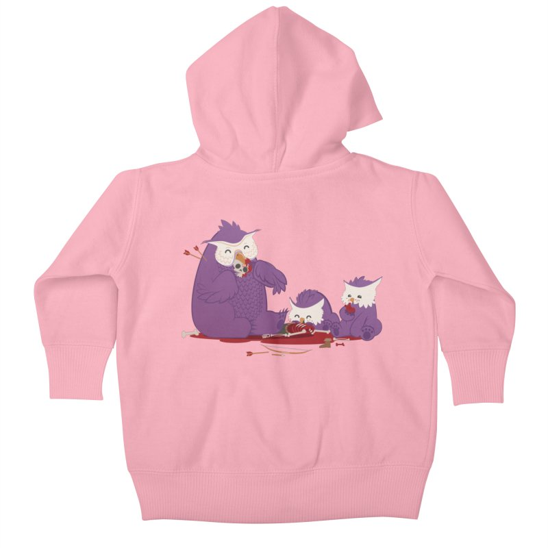 Owlbear Picnic Kids Baby Zip-Up Hoody by March1Studios on Threadless