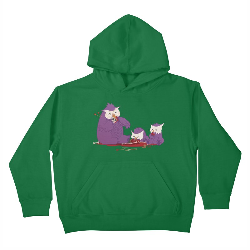 Owlbear Picnic Kids Pullover Hoody by March1Studios on Threadless