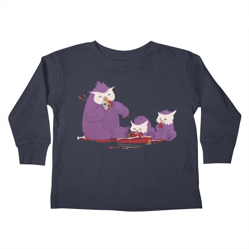 Owlbear Picnic Kids Toddler Longsleeve T-Shirt by March1Studios on Threadless