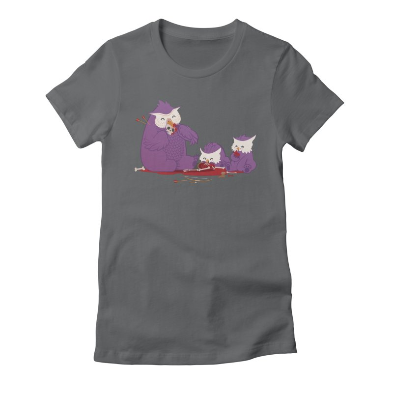 Owlbear Picnic Women's Fitted T-Shirt by March1Studios on Threadless