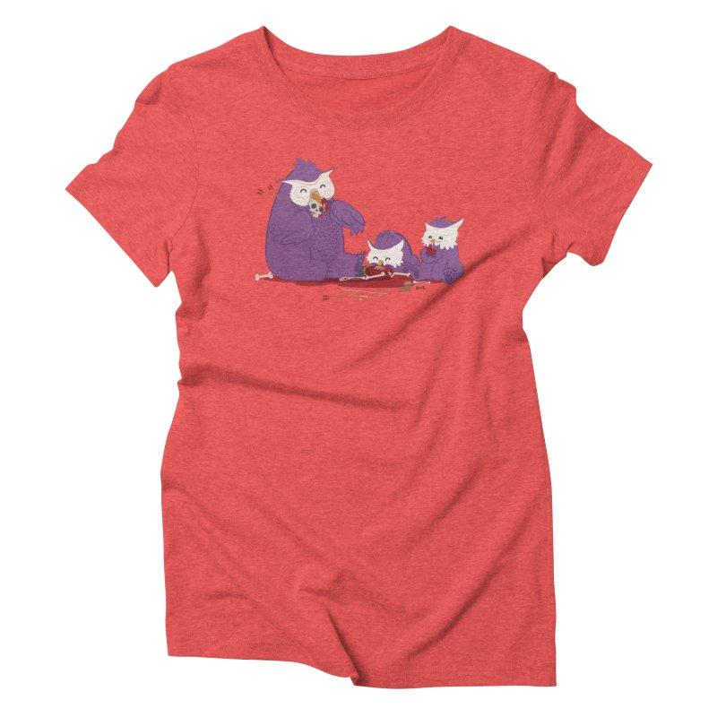 Owlbear Picnic Women's Triblend T-Shirt by March1Studios on Threadless