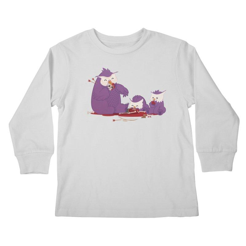 Owlbear Picnic Kids Longsleeve T-Shirt by March1Studios on Threadless