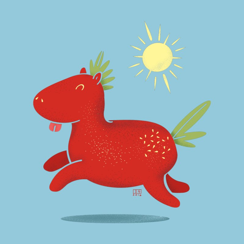 Strawberry Horse None  by march1studios's Artist Shop
