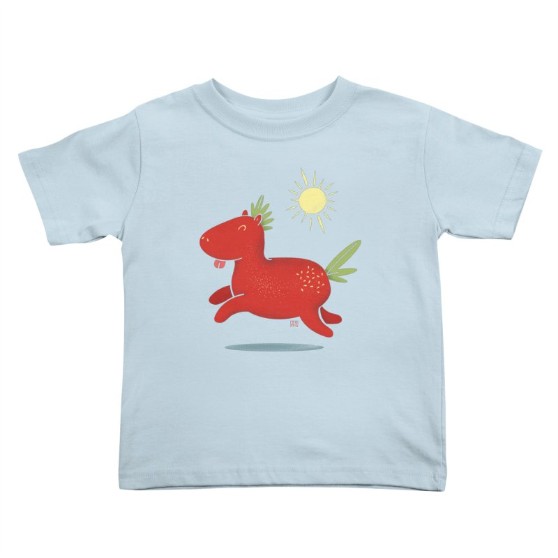 Strawberry Horse Kids Toddler T-Shirt by march1studios's Artist Shop