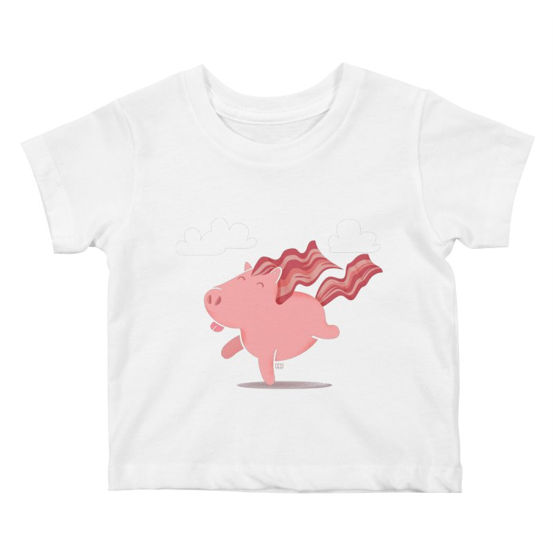 Bacon Horse Kids Baby T-Shirt by march1studios's Artist Shop