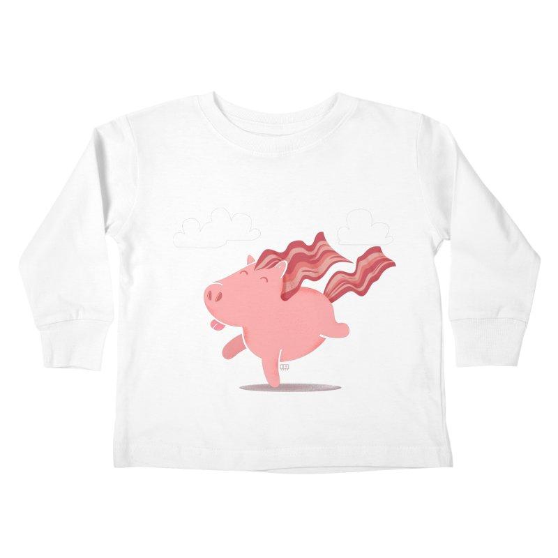 Bacon Horse Kids Toddler Longsleeve T-Shirt by march1studios's Artist Shop