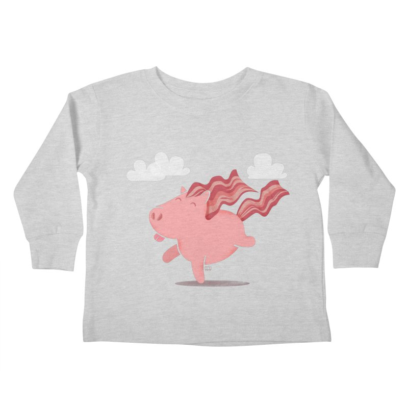 Bacon Horse Kids Toddler Longsleeve T-Shirt by march1studios's Artist Shop
