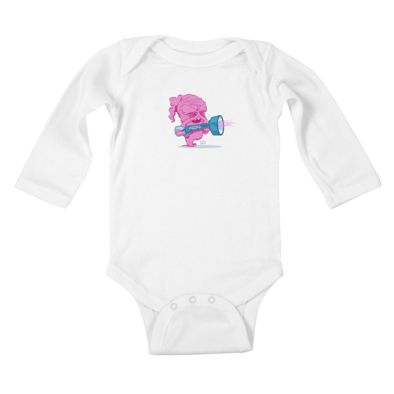 Cotton Candy Monster Kids Baby Longsleeve Bodysuit by march1studios's Artist Shop