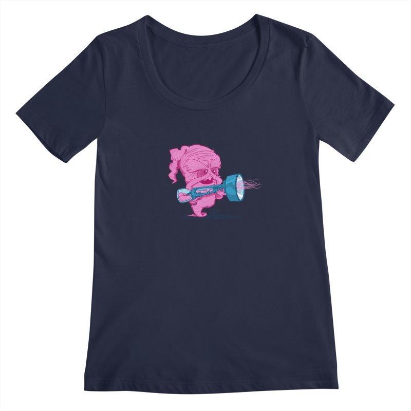 Cotton Candy Monster Women's Scoopneck by march1studios's Artist Shop