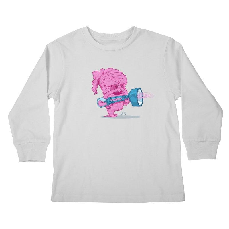 Cotton Candy Monster Kids Longsleeve T-Shirt by march1studios's Artist Shop