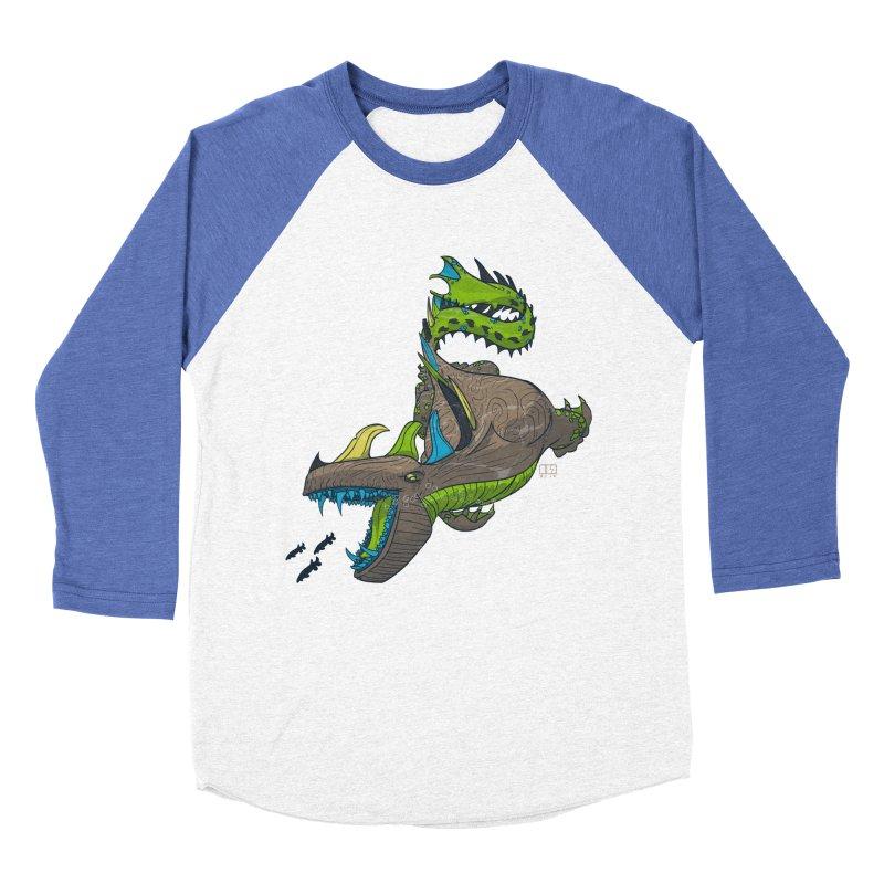 Riptide Men's Baseball Triblend T-Shirt by march1studios's Artist Shop