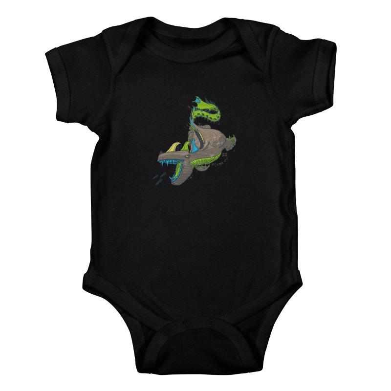 Riptide Kids Baby Bodysuit by march1studios's Artist Shop