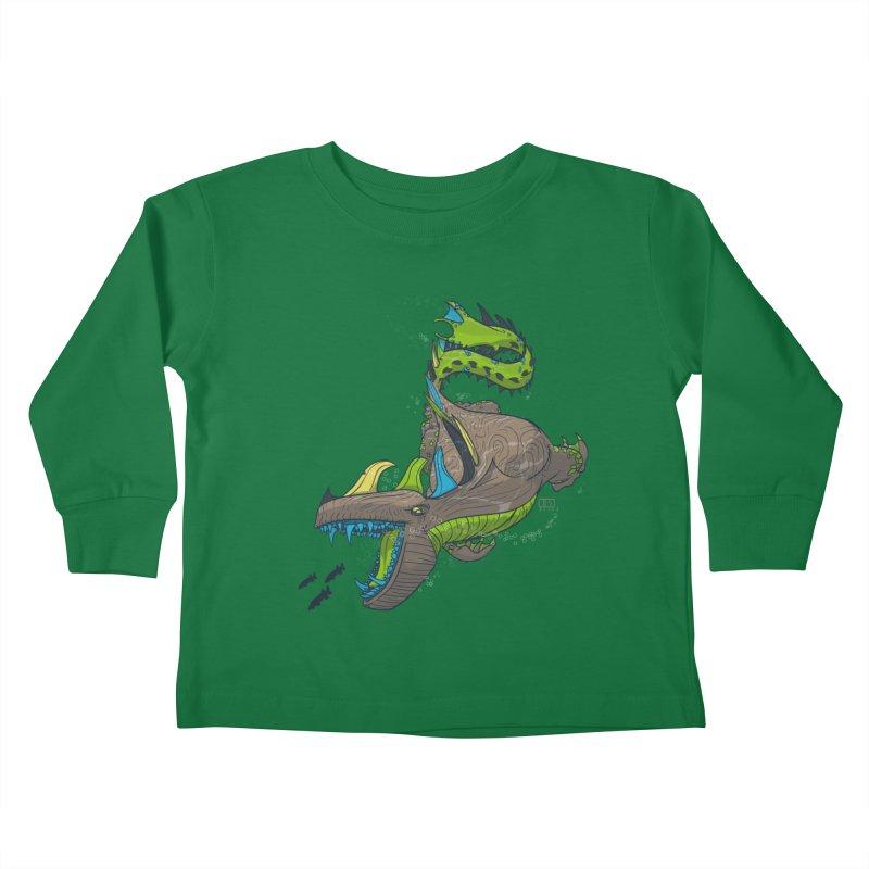 Riptide Kids Toddler Longsleeve T-Shirt by march1studios's Artist Shop