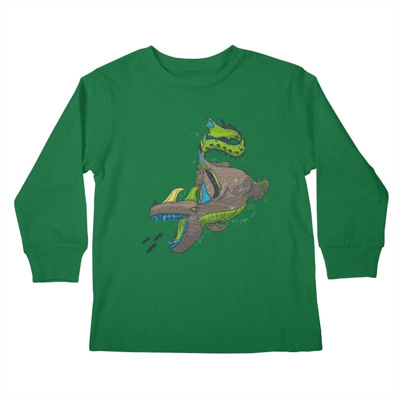 Riptide Kids Longsleeve T-Shirt by march1studios's Artist Shop