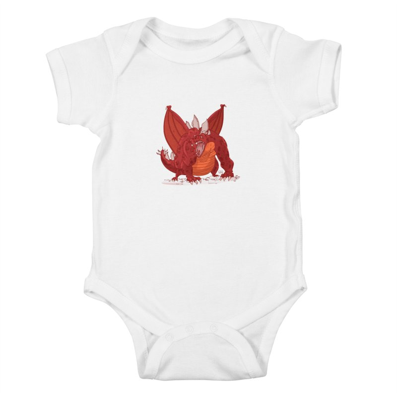 Dragonnate Kids Baby Bodysuit by march1studios's Artist Shop