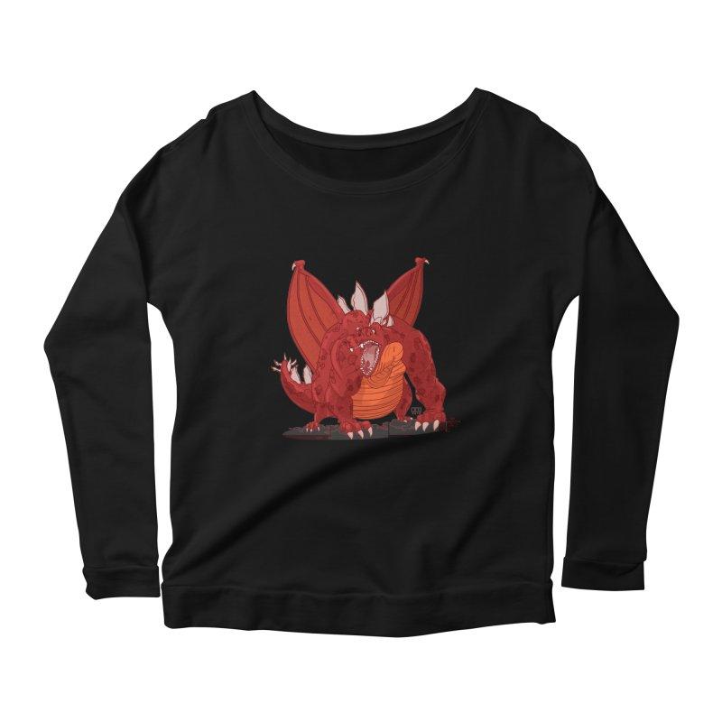Dragonnate Women's Longsleeve Scoopneck  by march1studios's Artist Shop