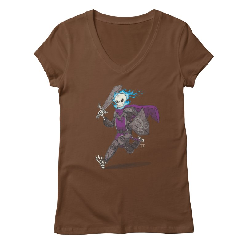 The Late Death Knight Women's V-Neck by march1studios's Artist Shop