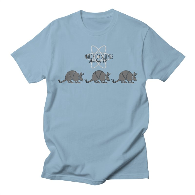 Armadillos Marching Men's Regular T-Shirt by March for Science Austin, TX