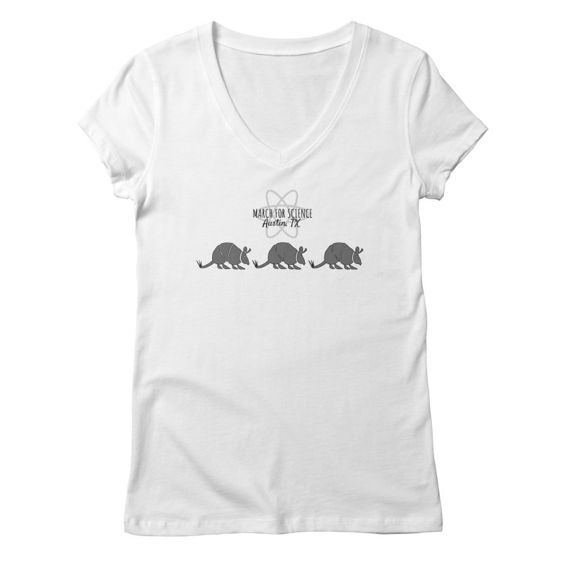 Armadillos Marching Women's V-Neck by March for Science Austin, TX