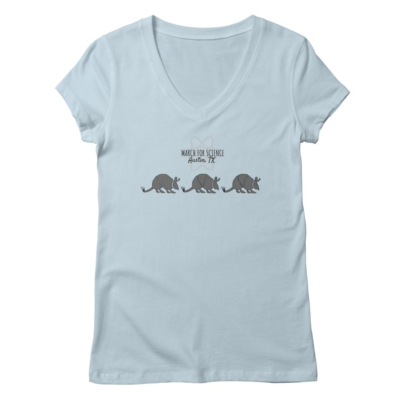 Armadillos Marching Women's Regular V-Neck by March for Science Austin, TX