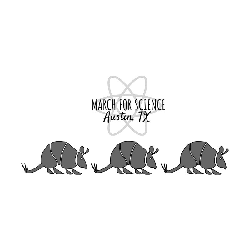Armadillos Marching Accessories Zip Pouch by March for Science Austin, TX