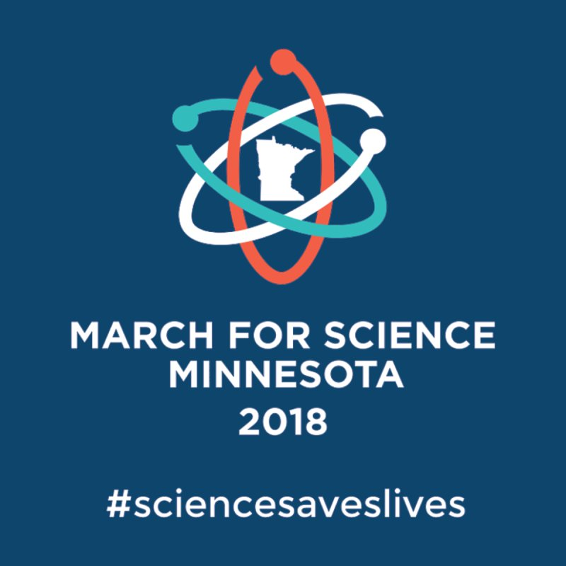 March for Science (Logo + Words) Women's V-Neck by March for Science Minnesota Swag