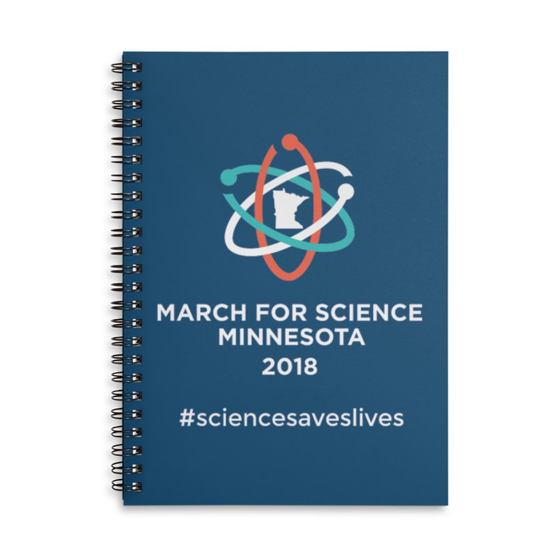 March for Science (Logo + Words) Accessories Lined Spiral Notebook by March for Science Minnesota Swag