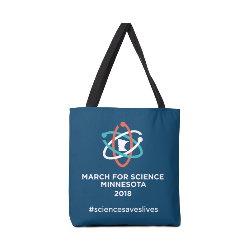 March for Science (Logo + Words) Accessories Tote Bag Bag by March for Science Minnesota Swag