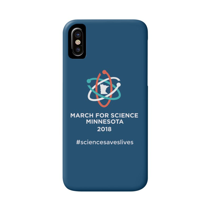 March for Science (Logo + Words) Accessories Phone Case by March for Science Minnesota Swag