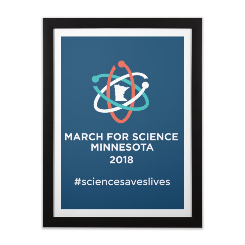 March for Science (Logo + Words) Home Framed Fine Art Print by March for Science Minnesota Swag