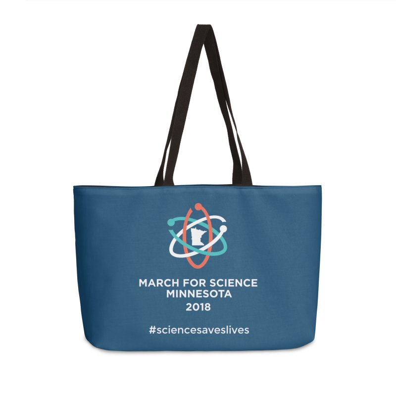 March for Science (Logo + Words) Accessories Weekender Bag Bag by March for Science Minnesota Swag