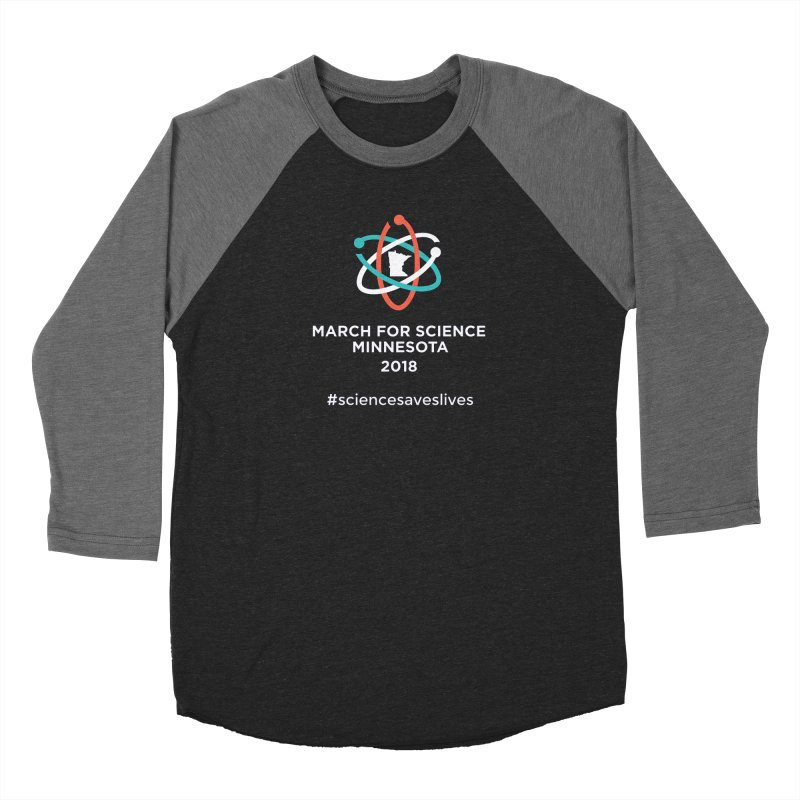 March for Science (Logo + Words) Women's Longsleeve T-Shirt by March for Science Minnesota Swag